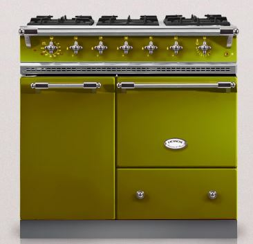Olive green bussy lacanche oven