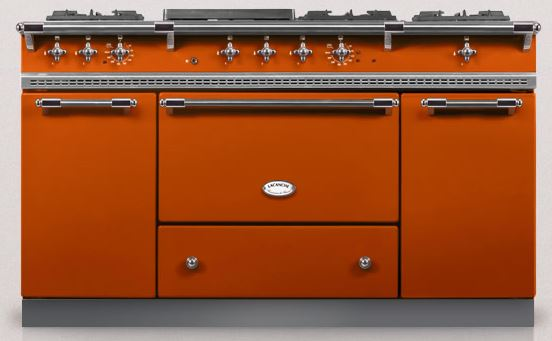 Dark orange lacanche kitchen range