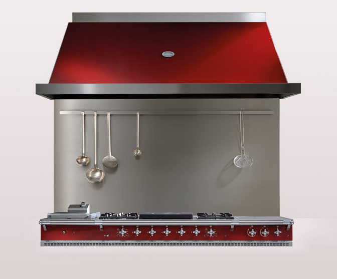 Cherry Red Lacanche Oven Extractor hood